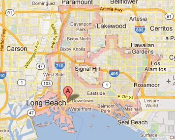 Long Beach Plumber Service Area in Long Beach, CA